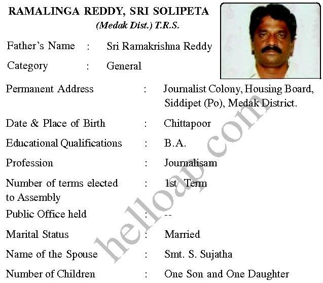 Solipeta R Reddy TRS