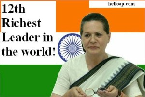 Sonia Gandhi 12th Richest