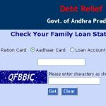 APCBS Portal for Loan Status - Runa Maafee Scheme in Andhra Pradesh
