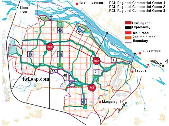 Ap capital amaravati industrial hubs and roads plan hello ap and crda industrial hubs malvernweather Images