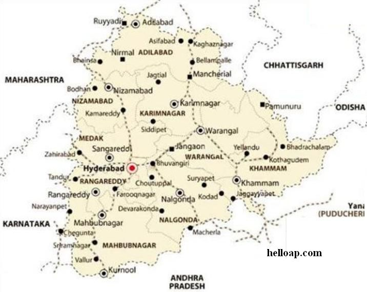Villages in telangana district wise