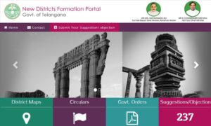 New districts portal Telangana
