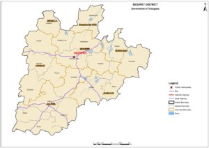 Siddipet district map