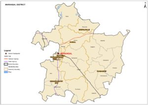 Warangal district new map