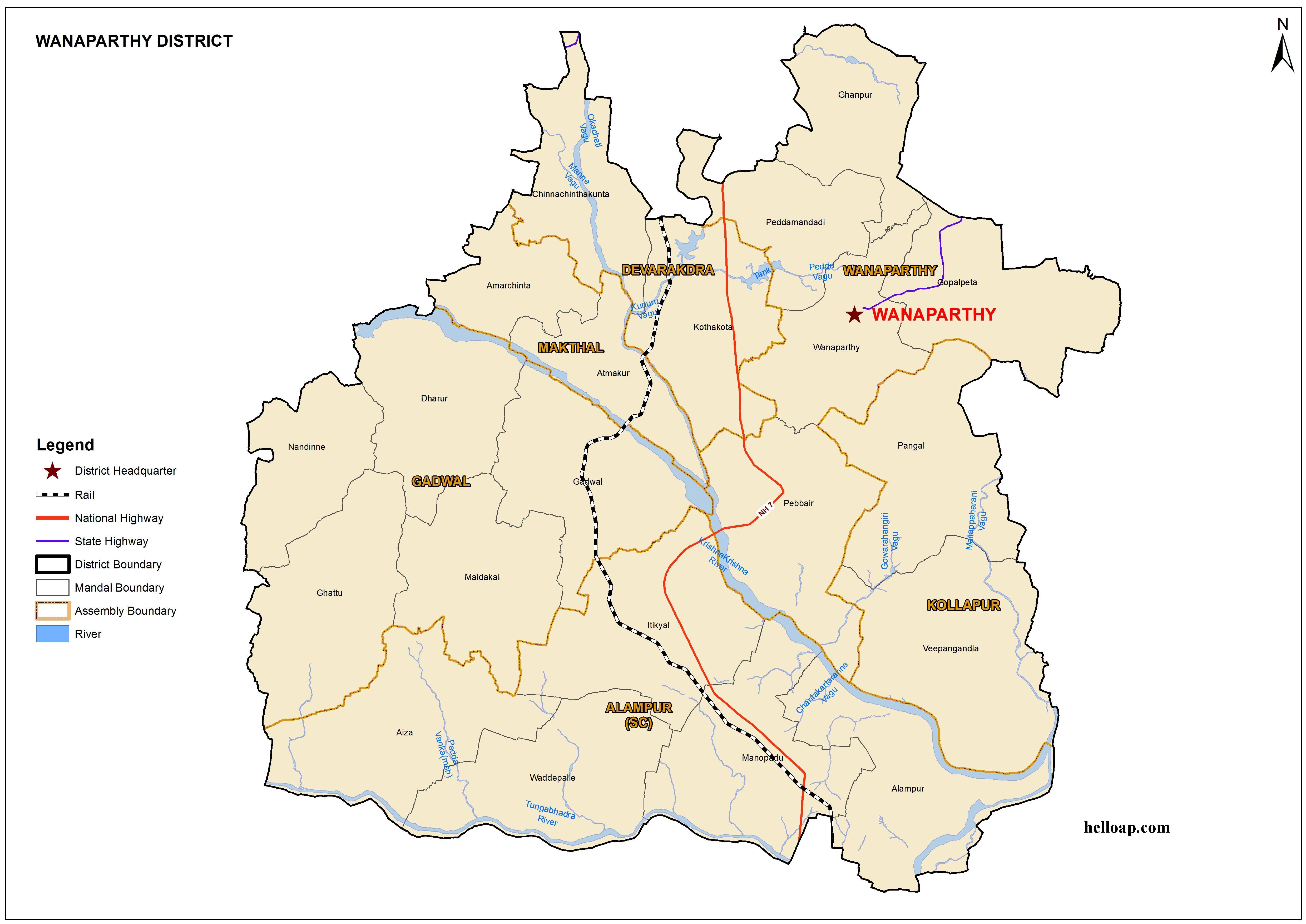 Telangana Map with New Districts and Mandals Archives