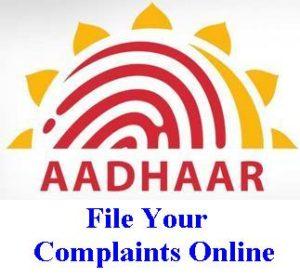Aadhaar Complaints Online