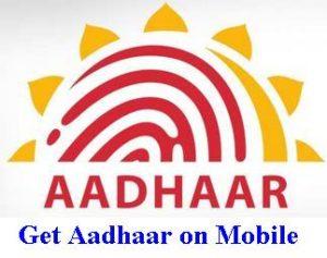 Aadhaar on mobile