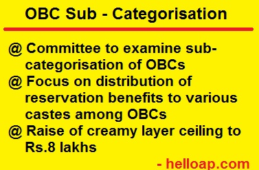 OBC List categorisation