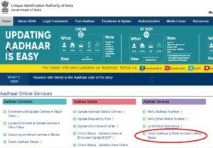 aadhaar bank link